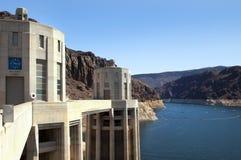 Aguamiel del lago y presa de Hoover Foto de archivo