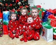 Aguardando até escutar Papai Noel Fotos de Stock