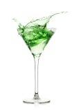 Aguardente da pastilha de hortelã cocktails Respingo fotografia de stock