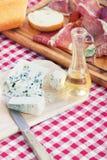 Aguardiente prosciutto y queso foto de archivo libre de regalías