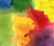 Aguarela abstrata fundo pintado Imagens de Stock