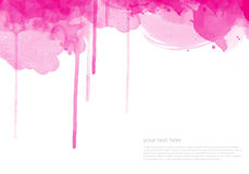 Aguarela abstrata fundo pintado ilustração stock