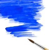 Aguarela abstrata fundo pintado com escova fotos de stock