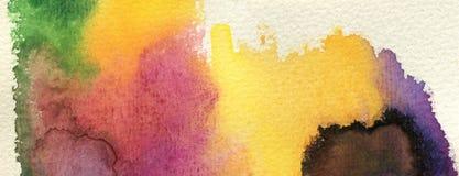 A aguarela abstrata pintou o fundo Fotos de Stock Royalty Free