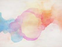 Aguarela colorida Fundo da textura de Grunge Fotografia de Stock