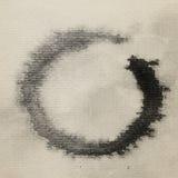 Aguarela do símbolo do zen pintada Fotos de Stock Royalty Free