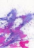 A violeta da aguarela espirra ilustração do vetor