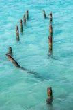 Aguas azules de turquesa Fotos de archivo