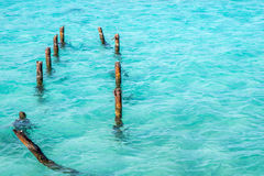Aguas azules de turquesa Foto de archivo