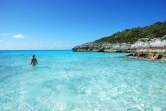 Aguas bahamesas Foto de archivo libre de regalías
