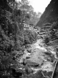 Aguas Caliente in the Cloud Forest. The town of Aguas Caliente is located at the foot of Machu Picchu in a beautiful cloud forest stock photos