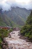 Aguas Calientes, Cuzco, Perù fotografia stock