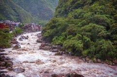 Aguas Calientes, Cuzco, Perù fotografia stock libera da diritti