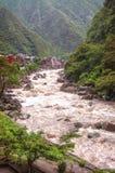 Aguas Calientes, Cuzco, Perù fotografie stock libere da diritti