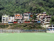 Aguas Calientes Houses. Houses in Aguas Calientes, the city near Macchu Piccu in Peru Stock Images