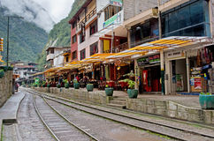 Aguas Calientes (Machu Picchu) in Peru. Royalty Free Stock Images