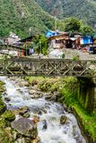 Aguas Calientes miasteczko w Cusco, Mach Picchu, Peru Obrazy Royalty Free
