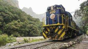 AGUAS CALIENTES, PERU inka poręcza pociąg Fotografia Royalty Free