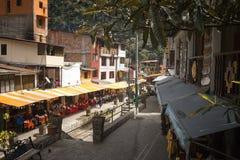 Aguas Calientes, Peru - miasteczko przy stopą Mach Picchu Zdjęcie Royalty Free