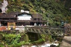 Aguas Calientes, Peru - miasteczko przy stopą Mach Picchu Fotografia Stock