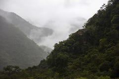 Aguas Calientes in Peru. View at nature at Aguas Calientes in Peru stock photos