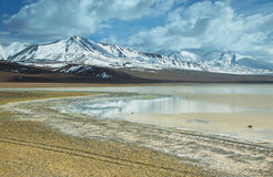 Aguas calientes salt lake Stock Image