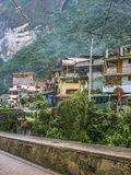 Aguas Calientes Town in Peru Stock Images