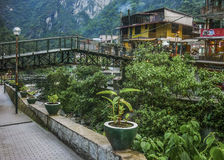 Aguas Calientes Town in Peru Royalty Free Stock Photography