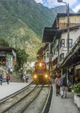 Aguas Calientes Train Station Stock Photography