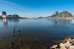 Aguas contaminadas de Rio de Janeiro Fotografía de archivo