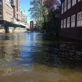 Aguas de Amsterdam Imagen de archivo