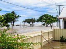 Aguas de inundación Foto de archivo