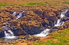 Aguas de precipitación en un valle del desierto Imagen de archivo