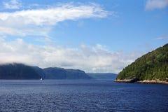 Aguas de Saguenay Foto de archivo libre de regalías