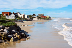 Aguas Dulces Beach, Rocha, Uruguay. Aguas Dulces Beach, popular tourist place in the southern coast of the Department of Rocha, Uruguay. The translation of Agua Royalty Free Stock Photos