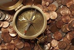 Aguas financieras de navegación Fotografía de archivo