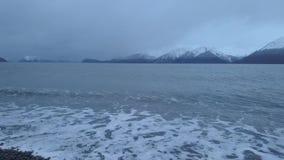 Aguas frías de Alaska almacen de metraje de vídeo
