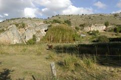 Aguas Peñas, πέτρα ηφαιστειακών τεφρών στοκ εικόνα