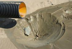 Aguas residuales y cesspit plásticos Imagen de archivo libre de regalías