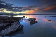 Aguas rocosas del afloramiento Foto de archivo libre de regalías
