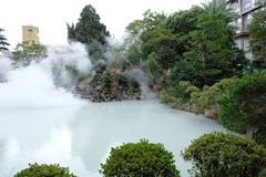 Aguas termales de Beppu Onsen Imagenes de archivo