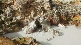 Aguas termales de Hveragerdi almacen de metraje de vídeo
