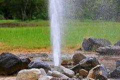 Aguas termales de San Kamphaeng en Chiangmai Fotografía de archivo