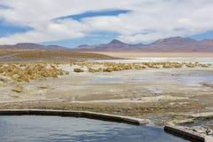 Aguas termales en el Termas de Polques, Bolivia Foto de archivo libre de regalías
