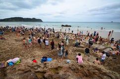 Aguas termales en la playa imagen de archivo libre de regalías
