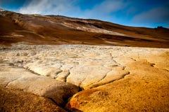 Aguas termales en Myvatn Fotos de archivo libres de regalías