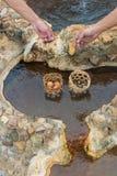 Aguas termales en Phrae, Tailandia Fotografía de archivo libre de regalías