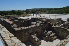 Aguas termales en Roman City Baelo Claudia Dating en del siglo II la playa A.C. de Bolonia en Tarifa Naturaleza, arquitectura, hi imagen de archivo