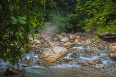 Aguas termales hermosas en la selva Foto de archivo libre de regalías