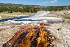 Aguas termales, parque nacional de Yellowstone Foto de archivo